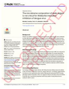 The microbiome composition of Aedes aegypti is ... - Semantic Scholar
