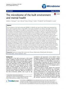 The microbiome of the built environment and mental health - CiteSeerX