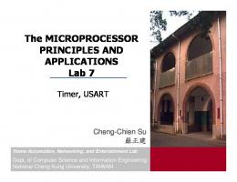The MICROPROCESSOR PRINCIPLES AND APPLICATIONS Lab 7