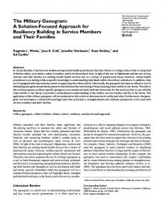 The Military Genogram: A Solution-Focused ... - SAGE Journals