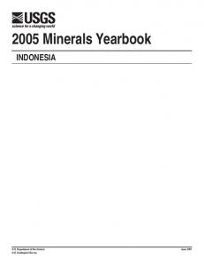 The Mineral Industry of Indonesia in 2005 - USGS Mineral Resources ...
