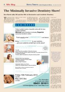 The Minimally Invasive Dentistry Show! - Dental Tribune International