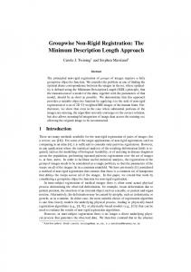 The Minimum Description Length Approach - IIST, Massey University