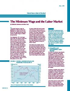 The Minimum Wage and the Labor Market