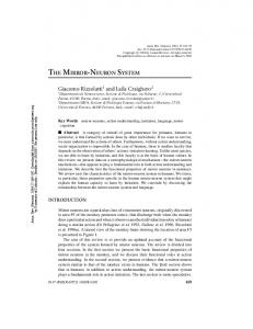 THE MIRROR-NEURON SYSTEM - Department of Psychology and ...
