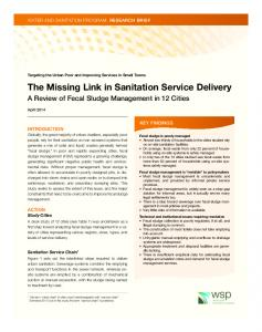 The Missing Link in Sanitation Service Delivery - Water and Sanitation ...