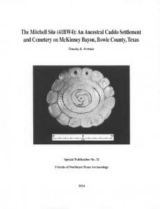 The Mitchell site (41BW4):an ancestral Caddo