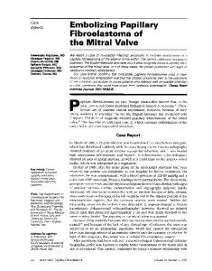 the Mitral Valve - Europe PMC