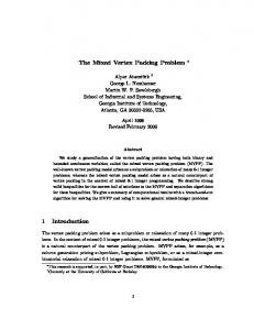 The Mixed Vertex Packing Problem 1 Introduction - Semantic Scholar