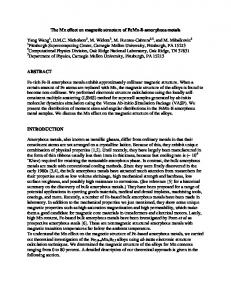 The Mn effect on magnetic structure of FeMn-B ... - Semantic Scholar