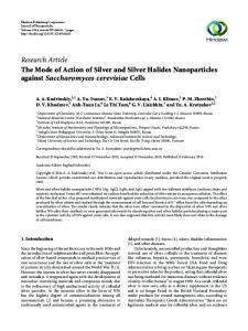 The Mode of Action of Silver and Silver Halides Nanoparticles against