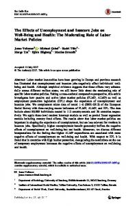 The Moderating Role of Labor Market Policies - Springer Link