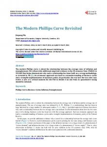 The Modern Phillips Curve Revisited - Scientific Research Publishing