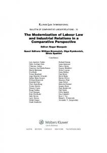 The Modernization of Labour Law and Industrial Relations ... - CRIMT