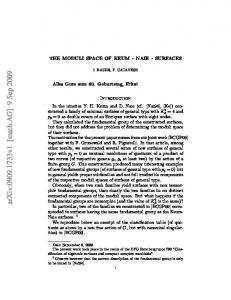THE MODULI SPACE OF KEUM-NAIE-SURFACES