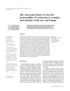 The molecular basis of selective permeability of