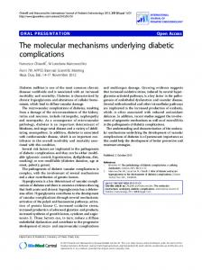 The molecular mechanisms underlying diabetic complications
