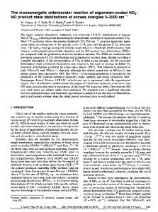 The monoenergetic unimolecular reaction of expansion-cooled NO2 ...