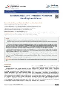 The Mooncup: A Tool to Measure Menstrual ... - Juniper Publishers