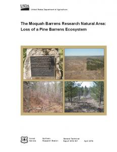 The Moquah Barrens Research Natural Area: Loss of ... - Forest Service