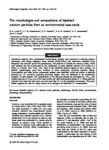 The morphologies and compositions of depleted uranium particles ...