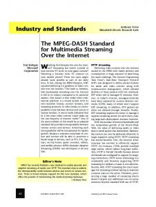 The MPEG-DASH Standard for Multimedia Streaming Over the Internet ...