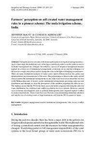 The mula irrigation scheme, India - Springer Link