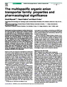 The multispecific organic anion transporter family - Cell Press