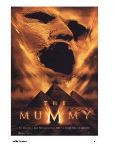 The Mummy - Film Education