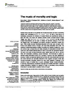 The music of morality and logic - Integrative Neuroscience Lab