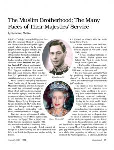 The Muslim Brotherhood: The Many Faces of Their Majesties' Service