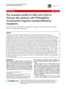 The mutation profile of JAK2 and CALR in Chinese ... - Semantic Scholar