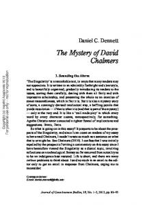 The Mystery of David Chalmers