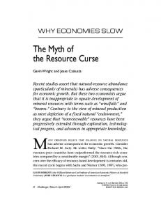 The Myth of the Resource Curse - Cafe Hayek