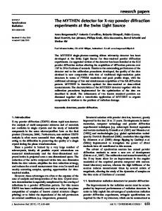 The MYTHEN detector for X-ray powder diffraction ... - IUCr Journals