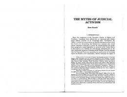 the myths of judicial .activism - SSRN papers