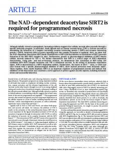 The NAD-dependent deacetylase SIRT2 is required for programmed ...