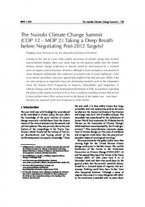 The Nairobi Climate Change Summit - Publication Server of the ...