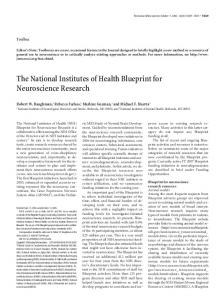 The National Institutes of Health Blueprint for Neuroscience Research