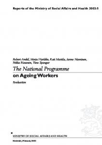 The National Programme on Ageing Workers, Evaluation - CiteSeerX