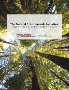 The Natural Environments Initiative - National Park Service