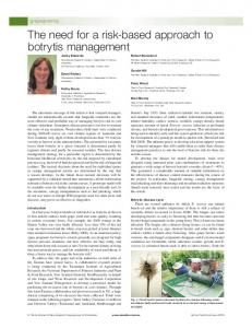 The need for a risk-based approach to botrytis ...