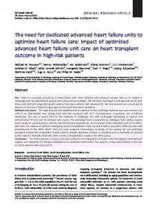 The need for dedicated advanced heart failure ... - Wiley Online Library
