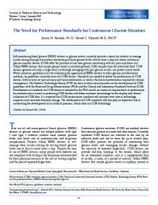 The Need for Performance Standards for Continuous Glucose Monitors