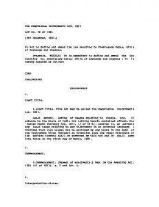 THE NEGOTIABLE INSTRUMENTS ACT, 1881 ACT NO. 26 OF ...