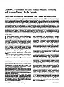 the Neonate Mucosal Immunity and Immune Memory in Oral DNA ...