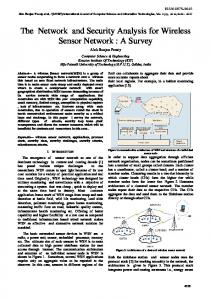 The Network and Security Analysis for Wireless Sensor Network - ijcsit