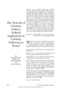 The Network of Celebrity Politics: Political Implications of Celebrity ...