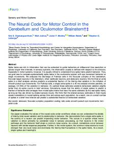 The Neural Code for Motor Control in the ... - Semantic Scholar