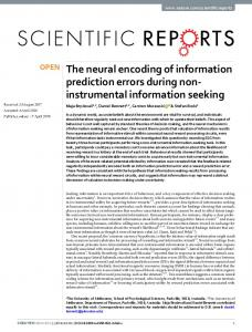 The neural encoding of information prediction errors